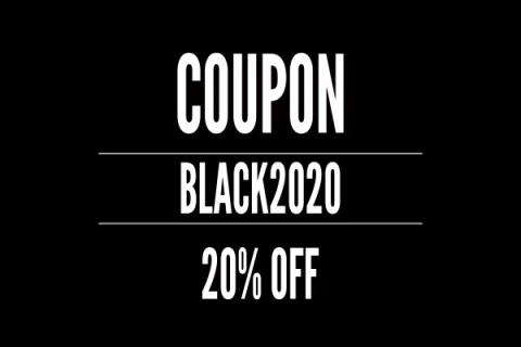 COUPON BLACK2020 20% OFF